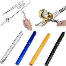 New Portable Mini Aluminum Alloy Pocket Pen Shape Fishing Rod Pole + Reel