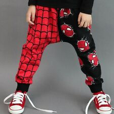 Super Spider-man Design Kids Girls Boys Harem Pants Trouser Clothes 2-7Y UK