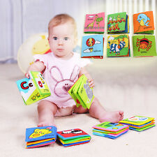 Funny Soft Cloth Baby Kid Intelligence Development Learn Picture Cognize Book
