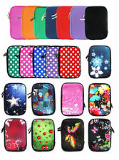 "Soft Neoprene Sleeve Zip Case Cover Pouch fits 7"" Inch Tablets free Black Stylus"