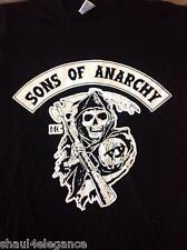 Sons Of Anarchy MC Reaper 100% Cotton Shirt Black New Style TV Series