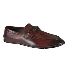 Dolce & Gabbana Men's Red Leather Loafers Slip On Shoes Sz 7 8 9 9.5 10 11 12
