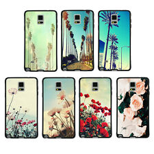 California Palm Trees Flowers TPU Bumper Hard Case For Samsung Galaxy Note2 3 4
