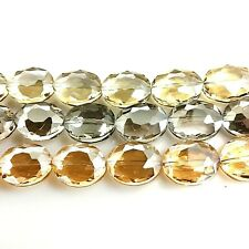 """20x16x10mm Crystal Faceted Oval Beads 14"""" , pick your color."""