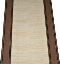 Dean Boxer Beige Washable Non-Skid Carpet Rug Runner