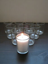 Beautiful Clear Glass Tea Light Candle Holders Choose A Quantity Wedding Party..