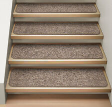 Set of 12 ATTACHABLE Carpet Stair Treads PEBBLE BEIGE runner rugs