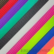 """Premium Quality 3/8"""" Solid Color Polyester Grosgrain Ribbon (4 Yards Of 1 Color)"""