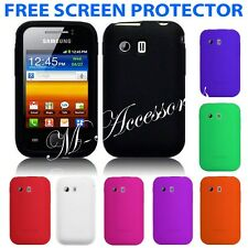 NEW SILICONE CASE COVER SKIN FOR SAMSUNG GT-S5360 GALAXY Y + SCREEN GUARD
