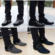 2015 Trendy British Style Men's Lace-Ups Pointed Toe Casual Dress Shoes All Size