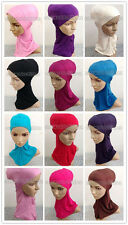 Beautiful Cotton Muslim Inner Hijab Caps Underscarf Hats Ninja Sport Hijabs