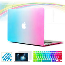 Rainbow Matte Rubberized Case Keyboard Cover for Macbook Air 13 Pro 15'' Retina