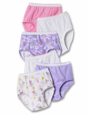 Toddler Panties Girls Briefs HANES 100% Cotton Tagless 6 Pairs 2T-4T TP30AS