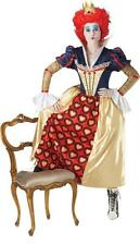 Ladies Disney Alice In Wonderland Red Queen of Hearts Fancy Dress Costume