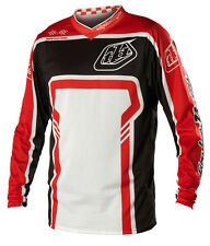 NEW 2014 TROY LEE DESIGNS GP AIR FACTORY MX DIRTBIKE JERSEY BLACK/ RED ALL SIZES