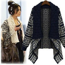 New Women Long Sleeve Knitted Cardigan Loose Casual Sweater Lady Jacket Coat