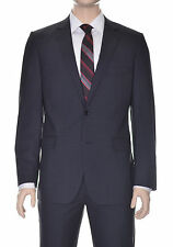 DKNY Mens Slim Fit Black Plaid Two Button Two Vent Wool Suit