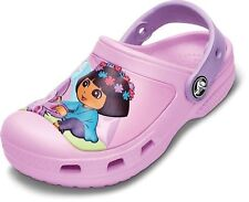 Dora The Explorer Girls Crocs Clogs Butterfly Carnation/Iris