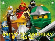 NINJAGO PARTY ! Edible Cake Topper Image Frosting Sheet - quarter and half size