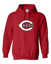 Cincinnati Reds Logo Hooded Sweatshirt (Sizes Youth S - Adult  5XL)