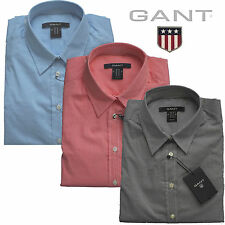 Gant Women's Blouse, Small Check Many Colours New (Co Pop Stretch Checked Shirt