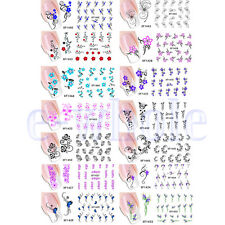 Water Transfer Slide Decal Sticker Nail Art Tips Toe Decoration 14 Design TW