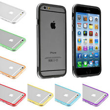 For iPhone 4S 5S 5C 6 4.7/6 Plus Crystal Clear Hybrid Soft TPU Bumper Case Cover
