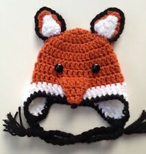 CROCHET FOX BABY HAT infant toddler child adult cap beanie  photo prop USA