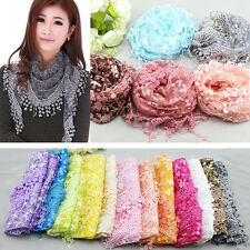 Women Fashion Pretty Long Soft Lace Chiffon Scarf Wrap Shawl Stole Scarves HOT