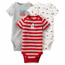 New Carter's Just One You 3 Pack Bodysuits Fire Truck Daddy is My Hero 9m 12m