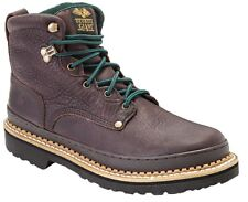 Georgia Men's Giant Steel Toe Lace Up Leather Ankle Work Boots Soggy Brown G6374