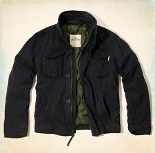 New Hollister By Abercrombie Mens Navy Outerwear Jacket