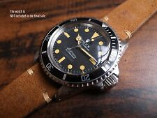 HANDCRAFTED REVERSED TAN STRAP VINTAGE ROLEX GMT SUBMARINER 5513 1675 20MM 19MM