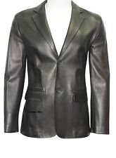 Men Leather Blazer New Black soft lambskin Slim fit Coat Designer Blazer- MB17