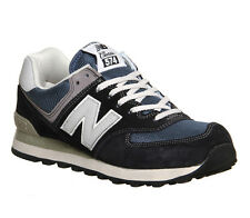 New Balance 574 DENIM NAVY Suede/Mesh Running Trainers Shoes