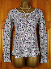 NEW FAT FACE LADIES BLUE RED PINK IVORY WHITE DITSY PRINT COTTON TOP UK 8-18