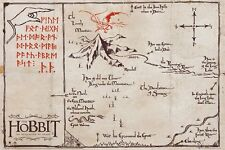 New The Hobbit The Desolation Of Smaug Map Of The Lonely Mountain Poster