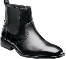 Stacy Adams Men's Wesley Leather Slip On Ankle Boots Black 20142