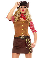 Sexy Wild West Western Rodeo Cowgirl Contry Gun Slinger Halloween Costume