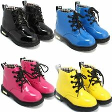 New Cute Girls Boys Martin Boots Shoes Childrens Kids Water Proof Any Size