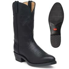"""NEW Durango Men's 11"""" Leather Western Oiled Black Cowboy Western Boots TR760"""