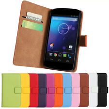 Magnetic Leather Wallet Stand Flip Cover Case Holder For LG Nexus 4 E960 Vogue