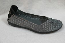 Bernie Mev Womens Catwalk Flats Shoes Pewter woven