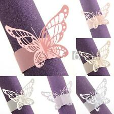 50pcs Napkin Butterfly Ring Paper Holder Table Party Wedding Favors Decor