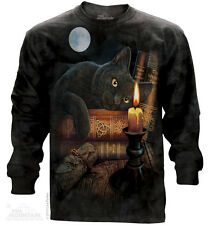 The Witching Hour Black T-Shirt by The Mountain 100% Cotton Long Sleeve  Sm-3XL