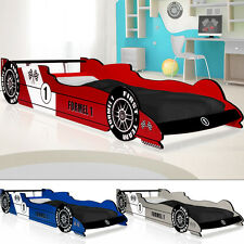 Child Racing Car Bed F1 - Kids Single Junior Bed - Bed Frame Included