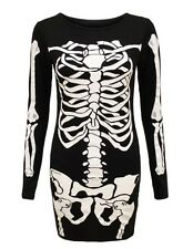 Women's skeleton bones party dress