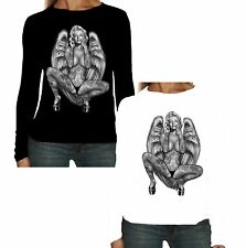 New Ladies Long Sleeve T-Shirt Marilyn Monroe Angel Pin Up Idol Tattoo W16345