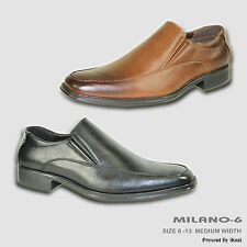 BRAVO New Men Dress Shoe MILANO-6 Classic Loafer Square Moc Toe Leather Lining