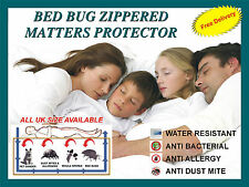 Zippered  Anti allergy,Anti Dust mite proof mattress cover protector encasement